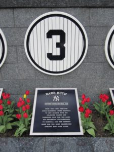 Babe Ruth's Retired Number Plaque